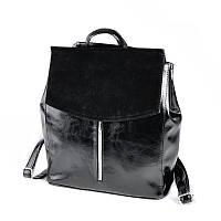Женский рюкзак-трансформер М173-27/замш, фото 1