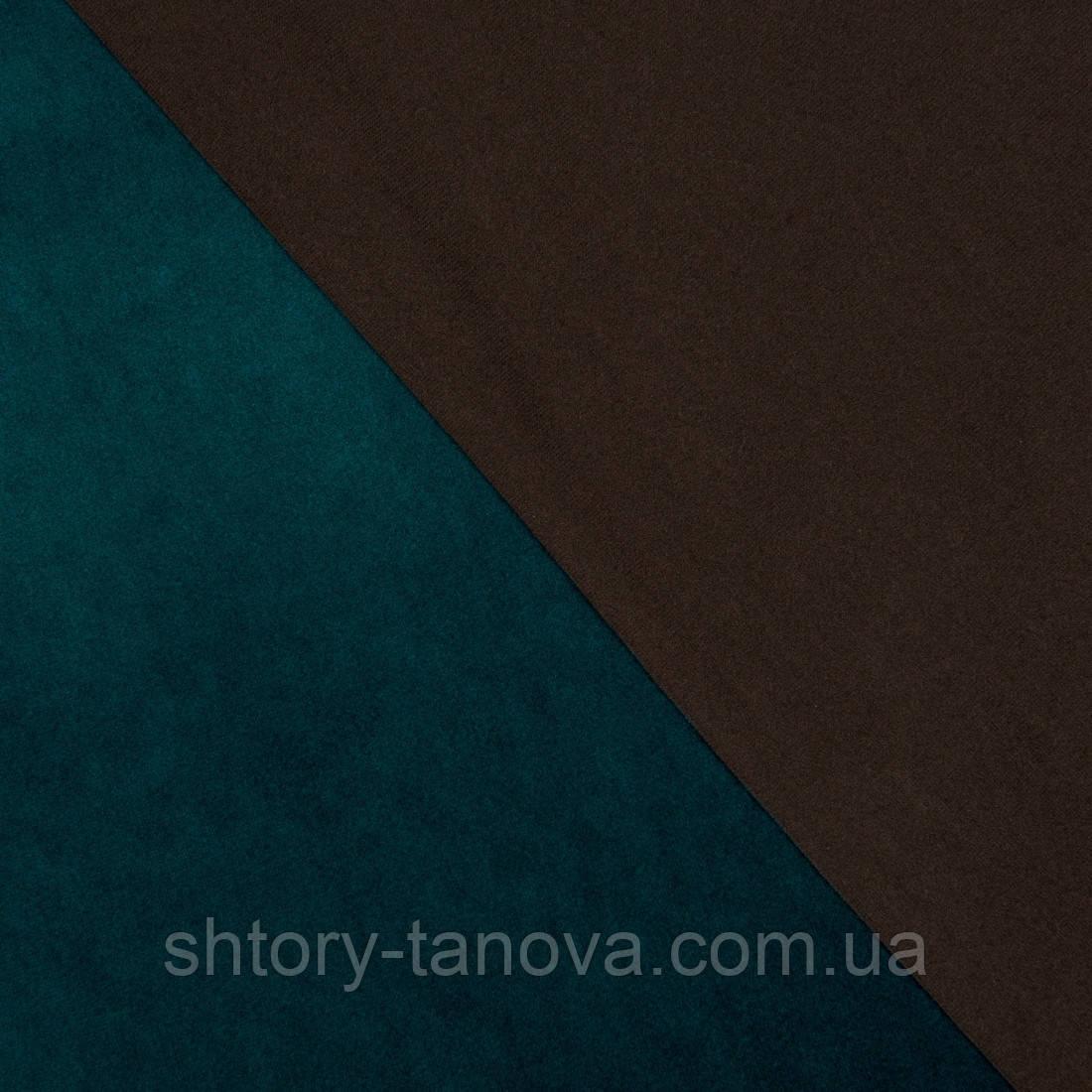 Декоративна тканина велюта смарагдово-зелений