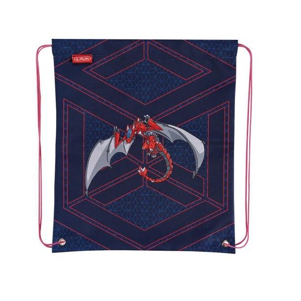 Сумка для обуви Herlitz Robo Dragon Red (50014613R)