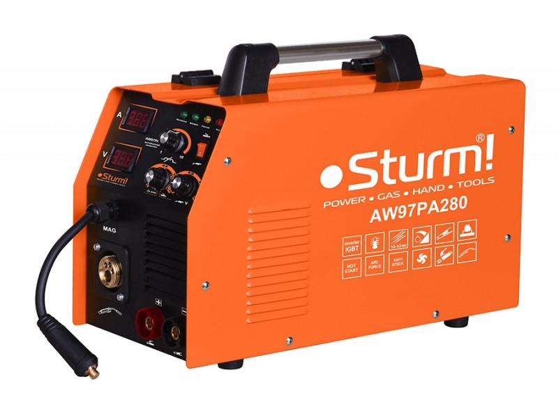 Сварочный инвертор-полуавтомат 280 А Sturm AW97PA280