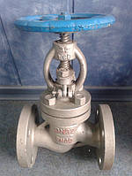 Клапан запорный нержавеющий 15нж65бк Ду80