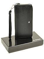 Мужское кожаное портмоне DR. BOND MS-41 black, фото 1