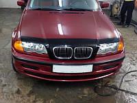 Дефлектор капота (мухобойка) BMW 3 серии (46 кузов) с 1998-2001 г.в.