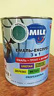 Емаль-Експрес 3в1 SMILE METALLIC  ІСКРИСТИЙ БЛИСК 0,7кг Зелений