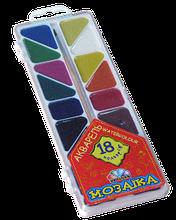 Акварель медовая Гамма-Н Мозаика 18 цветов
