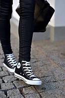 Converse Кеды высокие черные копия