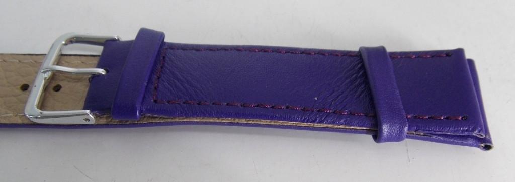 Ремешок кож.зам. (ПОЛЬША) 20 мм, фиолет