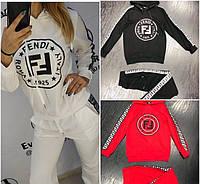 Женский спортивный костюм на флисе копия Fendi - купить по лучшей ... 04b72eabd51f5