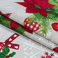 Декоративная новогодняя ткань winter