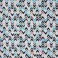 Испанская ткань с рисунком зиг-заг голубой,черный,беж, фото 2