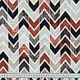 Декоративна тканина лонета лайф/life зигзаг коричнево-бурий.чорний,беж, фото 3