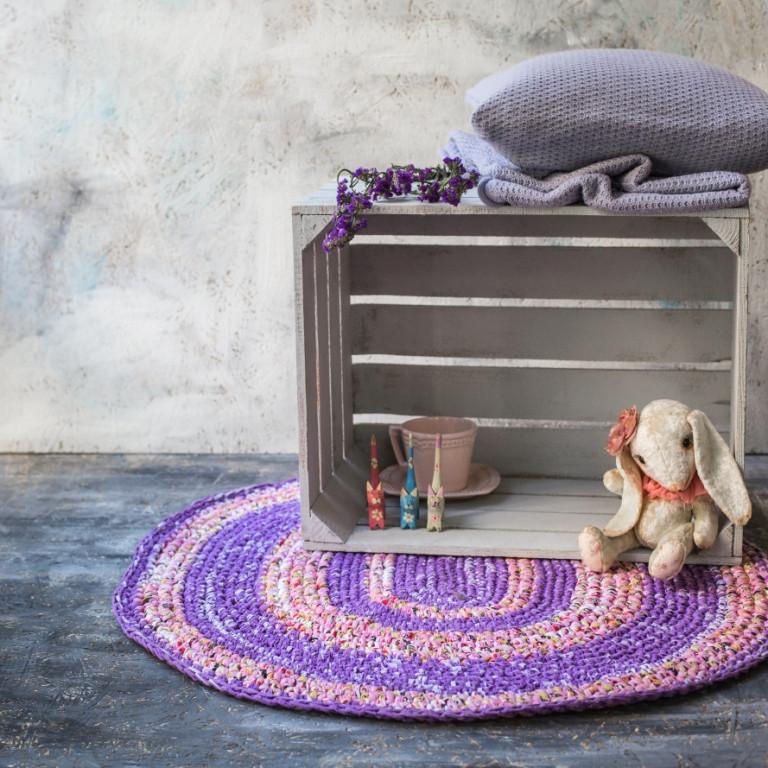 Коврик на пол Vividzone фиолетовый