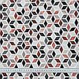 Декоративна тканина лонета лайф/life /абстракція коричнево-бурий,чорний,беж, фото 3