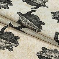 Декоративная ткань лонета тортугас/tortugas /черепашки