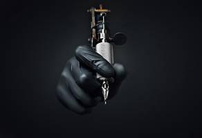 Черные нитриловые перчатки Nitrylex® PF Black L, фото 2