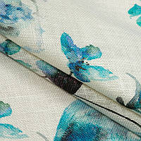 Декоративный джут кайнари/kinari цветы голубой см