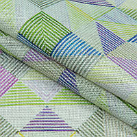 Декоративный джут керсен/kersen ромбик синий,фиолет,зеленый