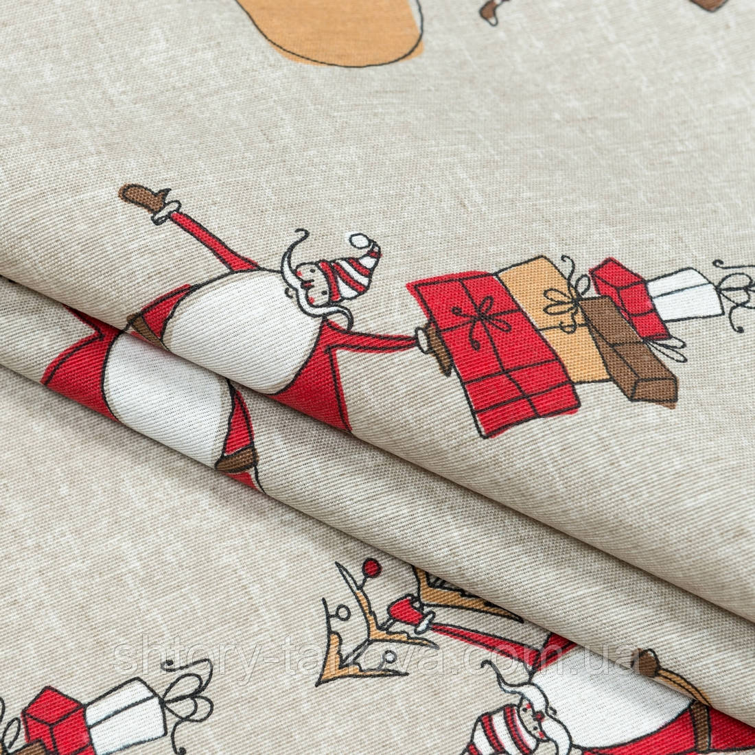 Декоративная новогодняя ткань сент/saint