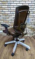 Retro роскошное эргономичное кожаное кресло GTCHAIR, коричневое