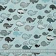 Лонета киты мелкие голубой, фото 3