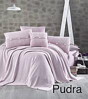 """Постельное бельё с вязаным покрывалом First Choice Nirvana Excellent """"Pudra!"""""""