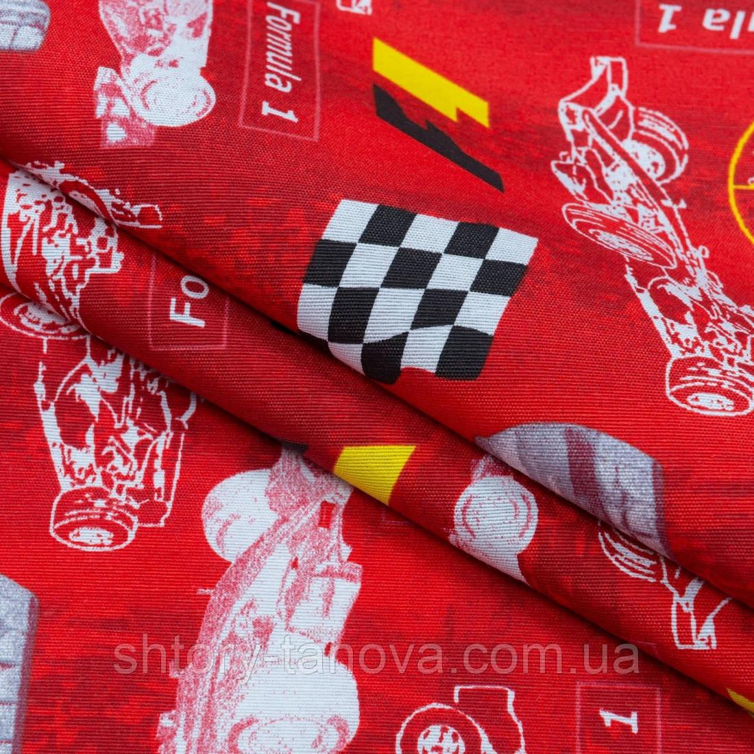 Декоративная ткань формула /formula красный