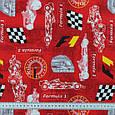 Декоративна тканина формула /formula червоний, фото 3