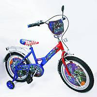 Детский двухколесный велосипед 18 ДЮЙМОВ Герои