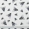 Декоративная ткань лонета мухи черный , фото 3