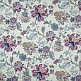 Декоративная ткань сатен ананда/ananda цветы фиолет, фото 2
