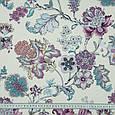 Декоративная ткань сатен ананда/ananda цветы фиолет, фото 3