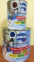 Емаль-Експрес 3в1 SMILE ROOF для дахів 0,8кг Вишнева RAL-3005