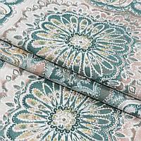 Декоративная ткань панама клейд/clady зеленая бирюза
