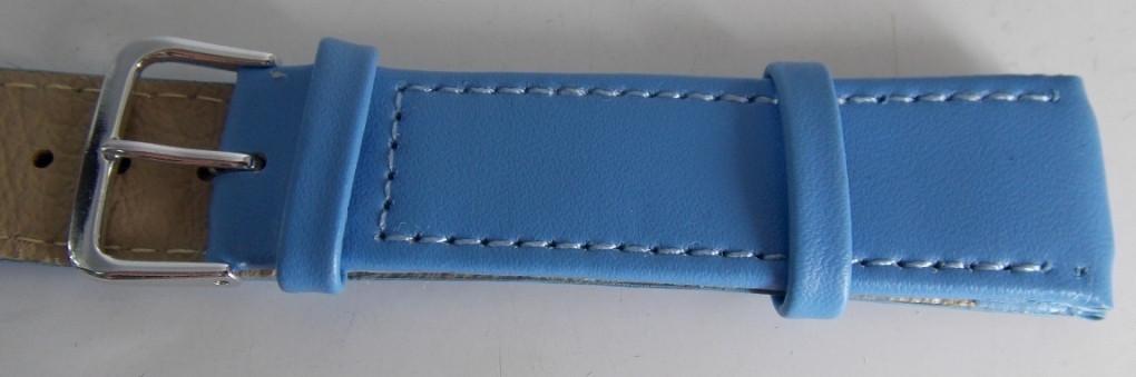 Ремешок кож.зам. (ПОЛЬША) 20 мм, голубой