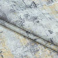 Декоративная ткань панама нагоя/panama nagoya серый,желтый
