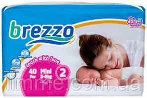Подгузники детские премиум класса Brezzo mini 2 (3-6 кг) 40 шт.