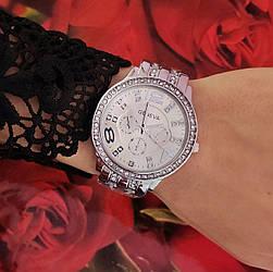 Часы Geneva (silver) - гарантия 6 месяцев