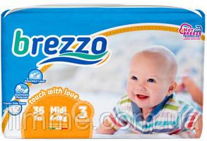 Подгузники детские премиум класса Brezzo midi 3 (4-8 кг) 36 шт.