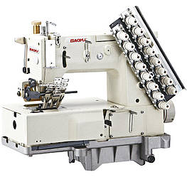 Baoyu BML-1408PL, восьмиигольная машина цепного стежка с пуллером и окантователями, для настрачивания лампасов