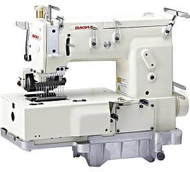 Baoyu BML-1412P, двенадцатиигольная промышленная машина цепного стежка с задним роликом, для пришивания поясов