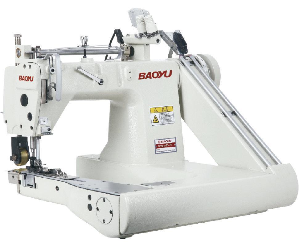 Baoyu BML-927-PL, двухигольная швейная машина цепного стежка на П-образной платформе с пуллером