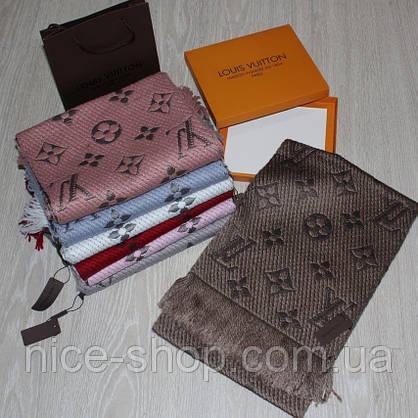 Шарф Louis Vuitton капучино хаки, фото 2