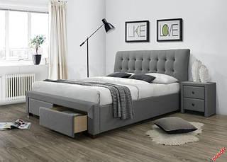 Кровать PERCY 160 серая halmar