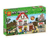 """Конструктор Lele 33077 """"Элитный частный дом 3 в 1"""" (аналог Lego Майнкрафт, Minecraft ), 738 дет."""
