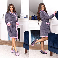 Халат женский домашний + тапочки, фото 1