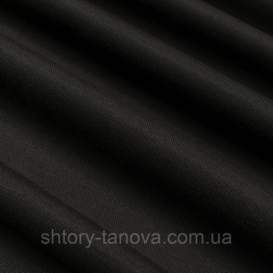 Натуральная ткань для штор с тефлоновым покрытием коричнево-бежевый
