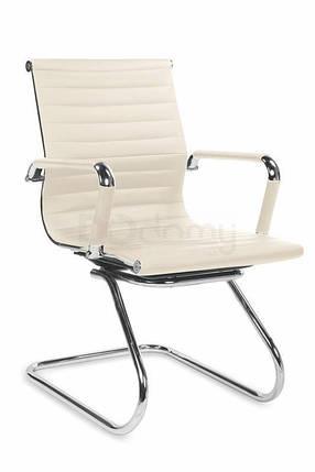 Кресло офисное Prestige Skid Halmar кремовый, фото 2