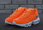 "Мужские кроссовки N1ke Air Max 95 ""Just Do It"" Orange. Живое фото (Реплика ААА+), фото 9"