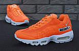 "Мужские кроссовки N1ke Air Max 95 ""Just Do It"" Orange. Живое фото (Реплика ААА+), фото 6"