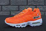 "Мужские кроссовки N1ke Air Max 95 ""Just Do It"" Orange. Живое фото (Реплика ААА+), фото 8"